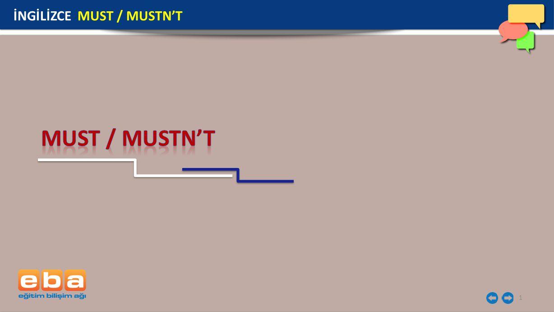 1 İNGİLİZCE MUST / MUSTN'T