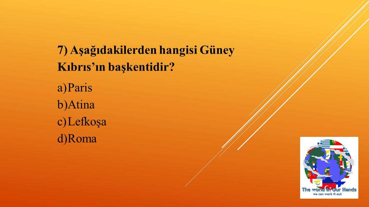8) Türkiye hangi iki kıtayı birbirine bağlar.