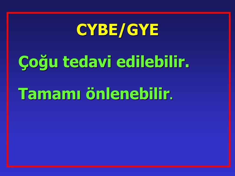 CYBE/GYE Çoğu tedavi edilebilir. Tamamı önlenebilir.