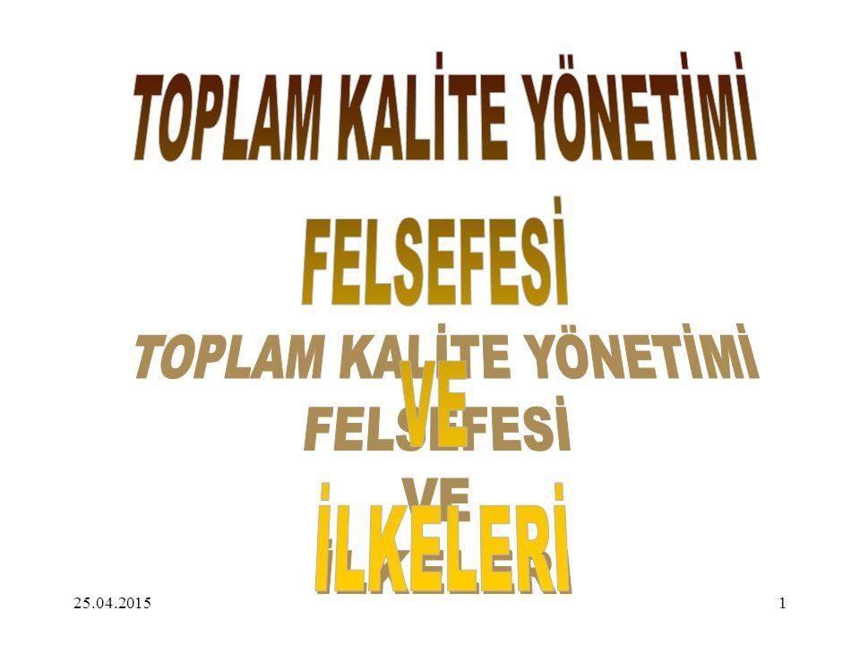TOPLAM KALİTE YÖNETİMİ.