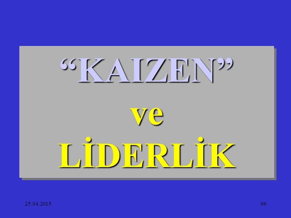 "25.04.201596 ""KAIZEN"" ve LİDERLİK"