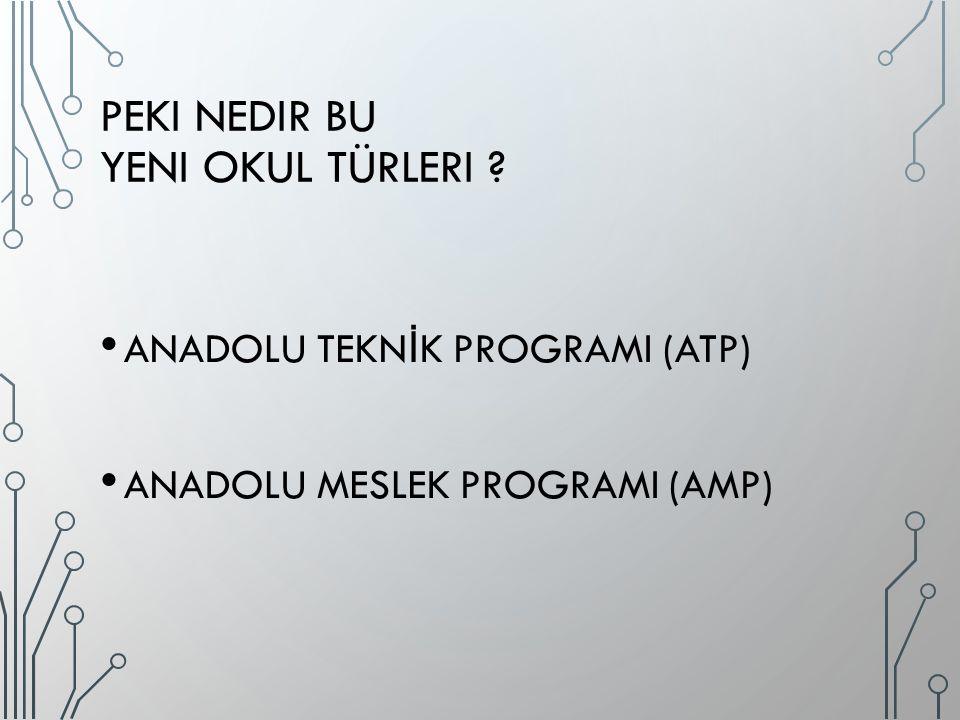 TERCIH SÜRECI NASıL OLACAK Öncelikle bütün okullar 10 Nisan 2015 tarihine kadar ATP ve AMP için kontenjanlarını belirleyecek.