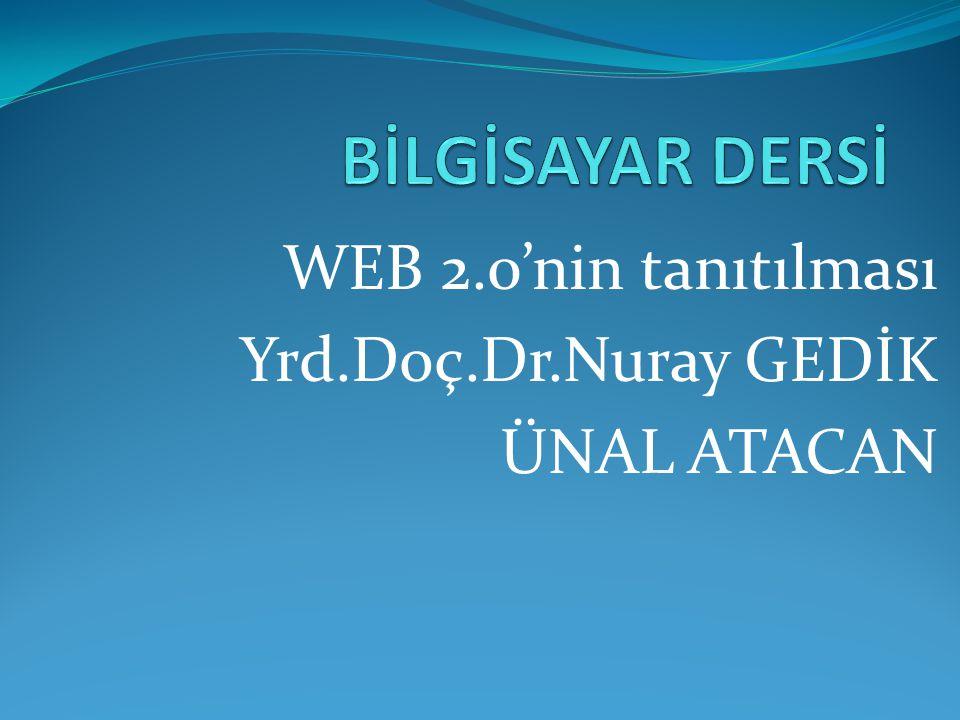 WEB 2.0'nin tanıtılması Yrd.Doç.Dr.Nuray GEDİK ÜNAL ATACAN