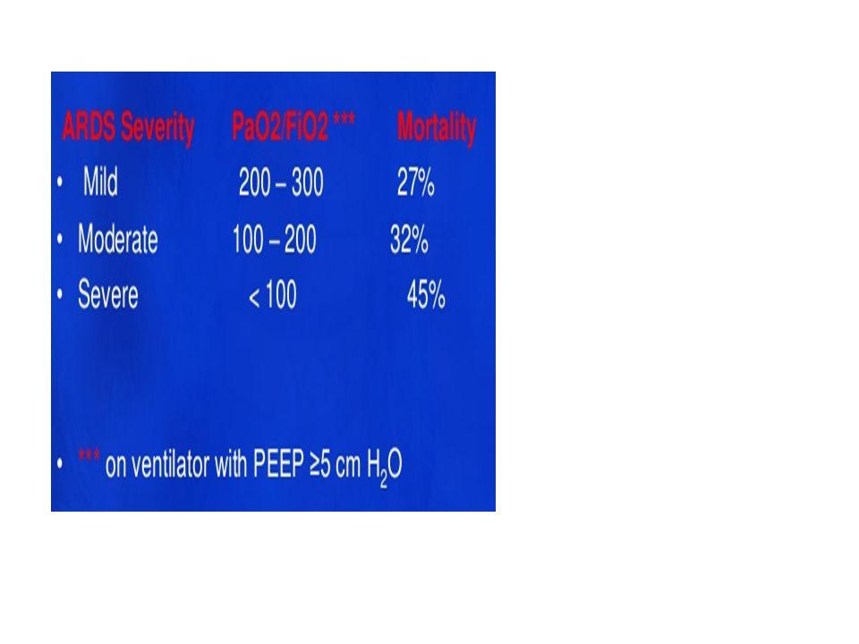 Ekokardiyografi Klinik ve BNP ile kardiyojenik pulmoner ödem tanısı dışlanamazsa transtorasik eko kullanılır Şiddetli aort yada mitral kapak disfonksiyonu Şiddetli diastolik disfonksiyon Sol ventrikül EF de belirgin azalma Kardiyojenik pulmoner ödemi destekler Bazı ARDS tetikleyicileri ( septik şok ) şiddetli kardiyomyopatiye yol açabilir ve ARDS ile birlikte bulunabilir [1,2].
