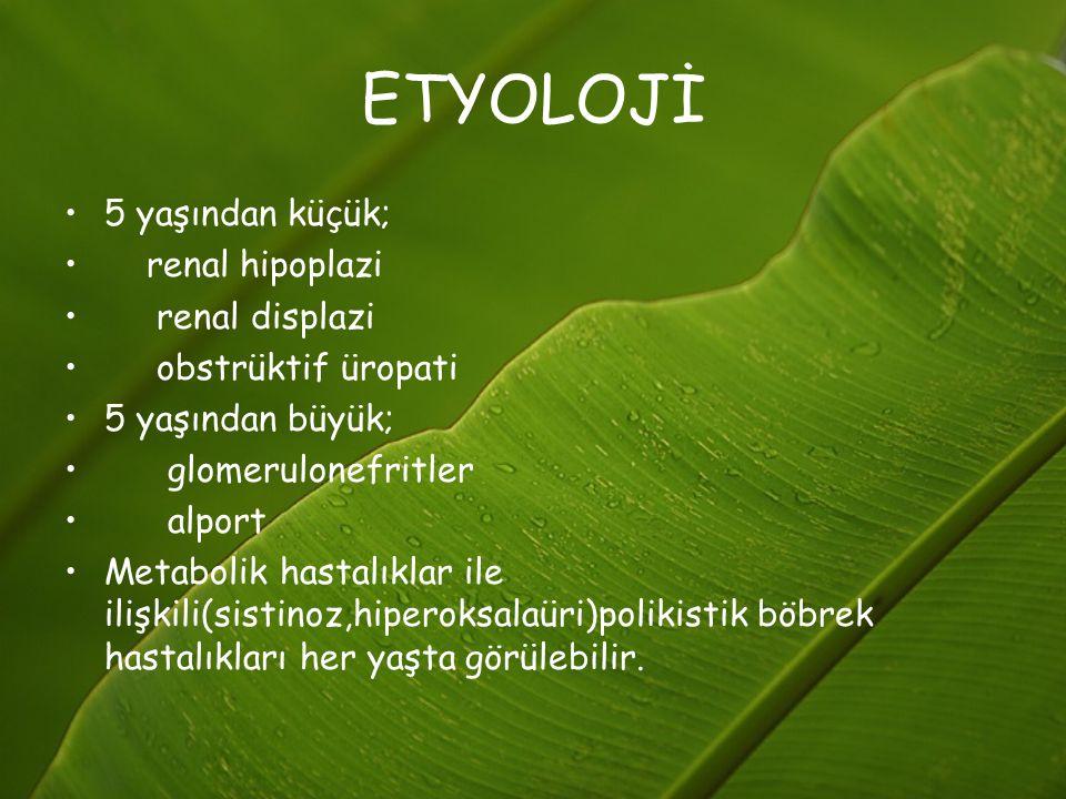 TEDAVİ12 HİPERTANSİYON: Aşrı sıvı yüklenmesine veya glomerüler hastalığa bağlı olarak aşırı renin salgılanmasına bağlı olarak gelişr.