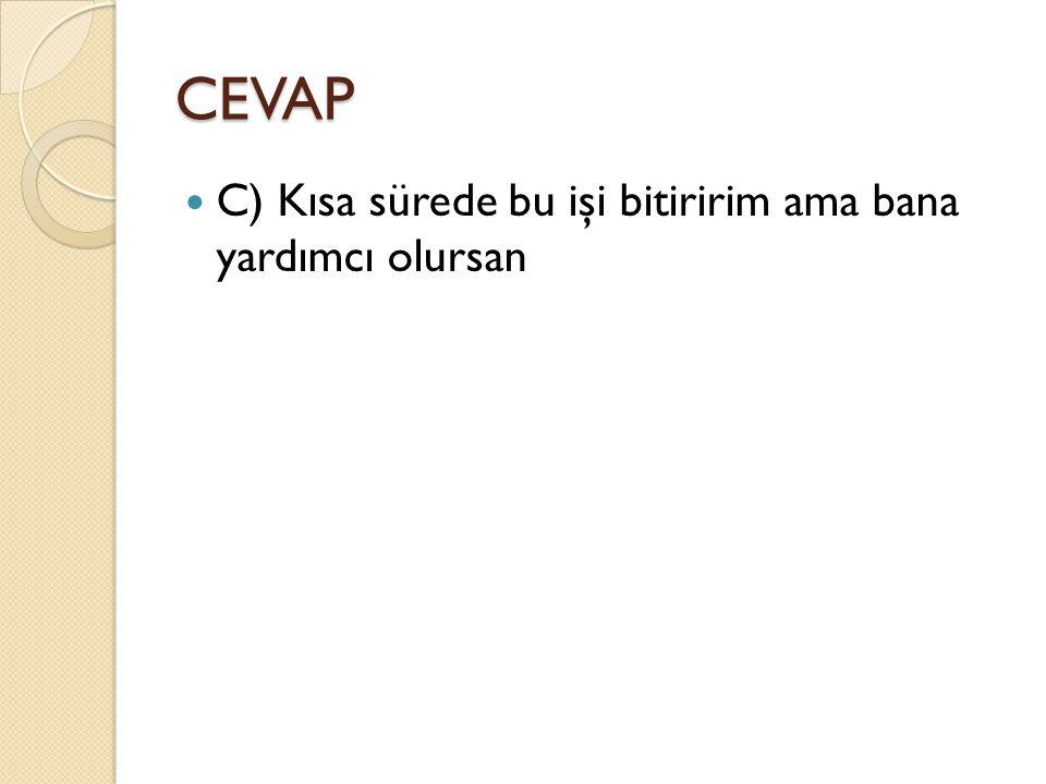 CEVAP C) Selimiye Camii