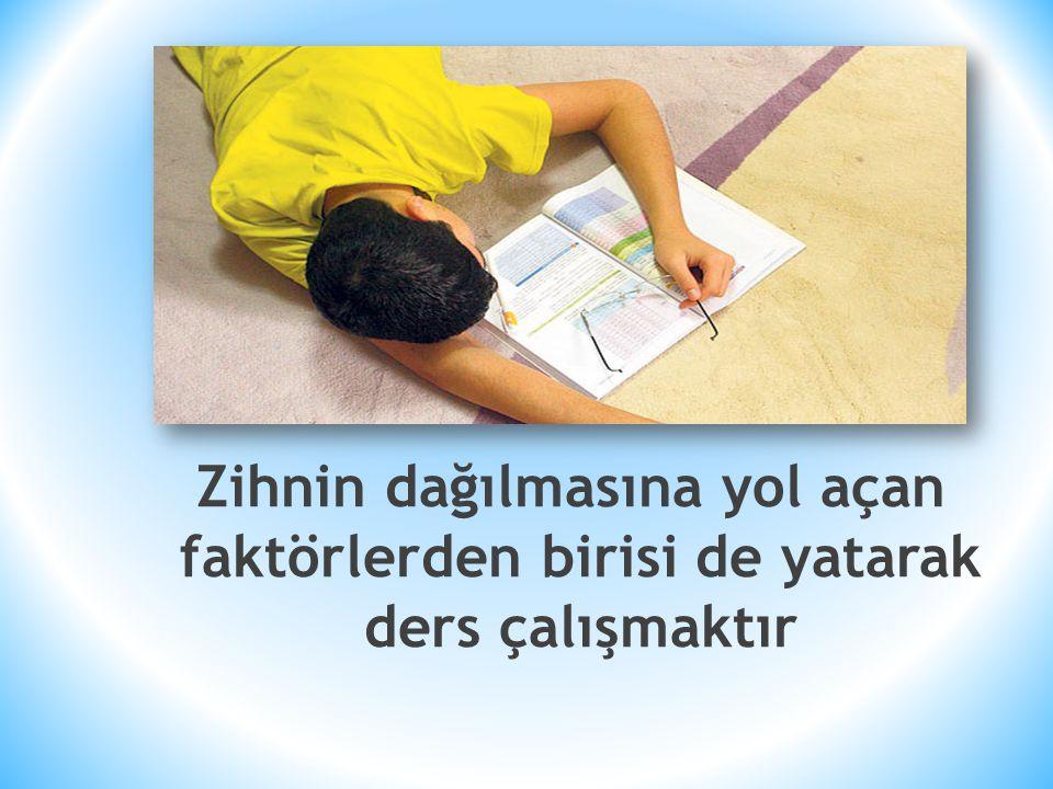 * Tarafsız bir gözle verimli ders çalışmak için düşüncelerinizi ve rehber öğretmeninizin önerilerini bir kağıda yazın, bunları gerçekleştirmek için hemen bir plan hazırlayın.