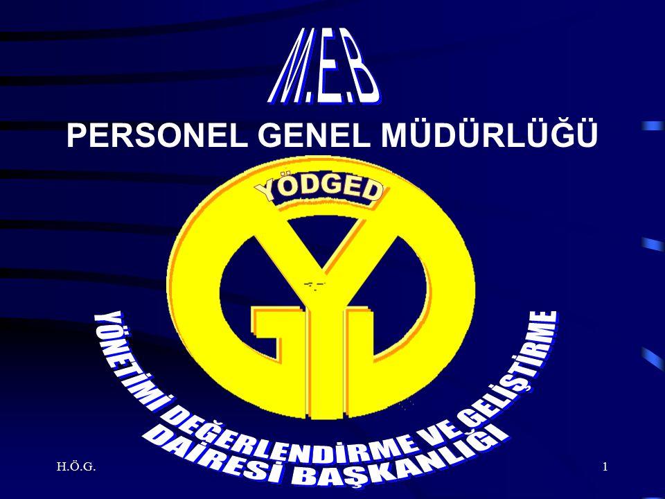 H.Ö.G.1 PERSONEL GENEL MÜDÜRLÜĞÜ