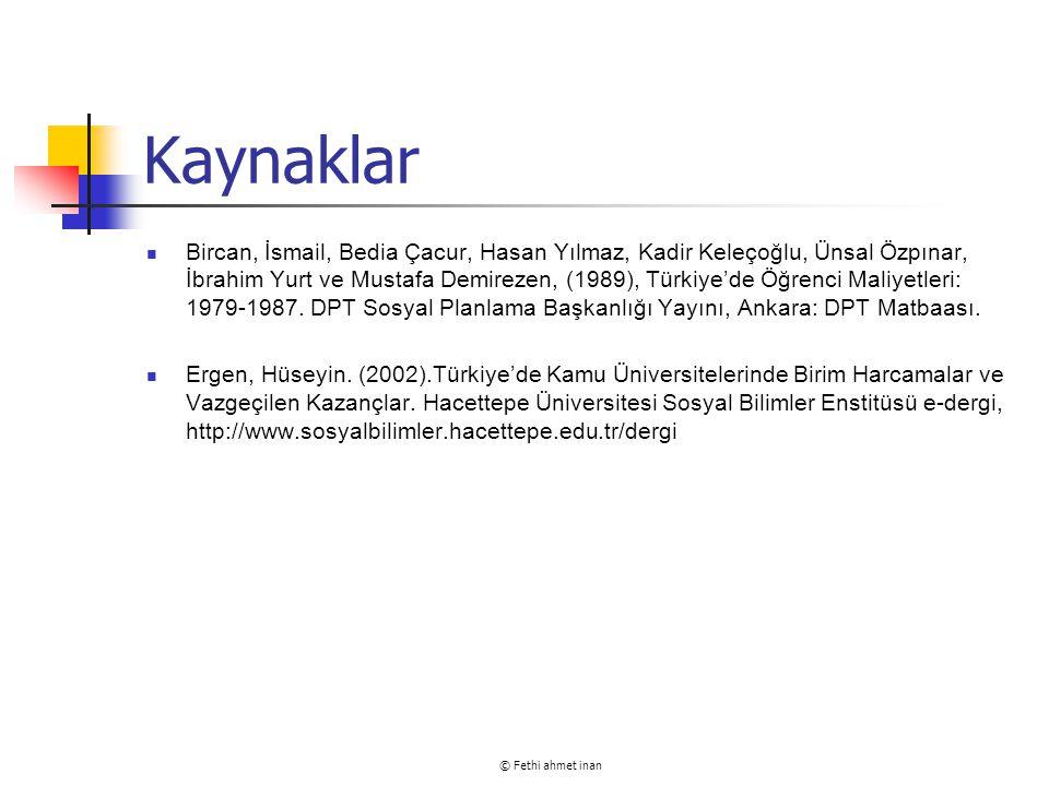 © Fethi ahmet inan Kaynaklar Bircan, İsmail, Bedia Çacur, Hasan Yılmaz, Kadir Keleçoğlu, Ünsal Özpınar, İbrahim Yurt ve Mustafa Demirezen, (1989), Tür