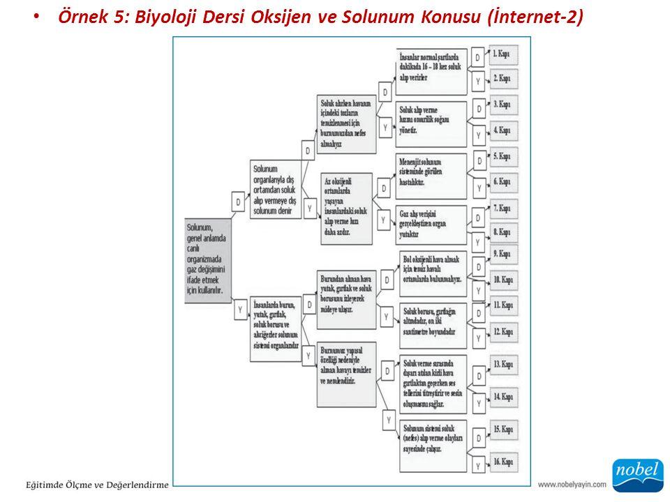 Örnek 5: Biyoloji Dersi Oksijen ve Solunum Konusu (İnternet-2)