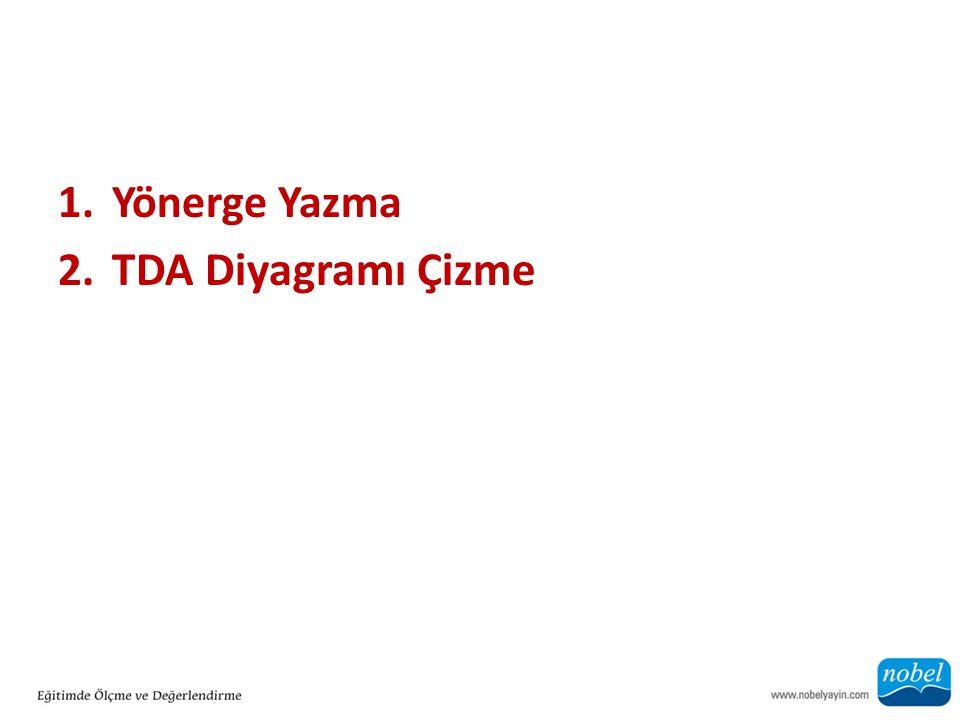 1.Yönerge Yazma 2.TDA Diyagramı Çizme
