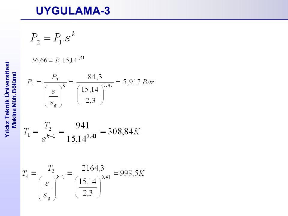 Yıldız Teknik Üniversitesi Makina Müh. Bölümü UYGULAMA-3