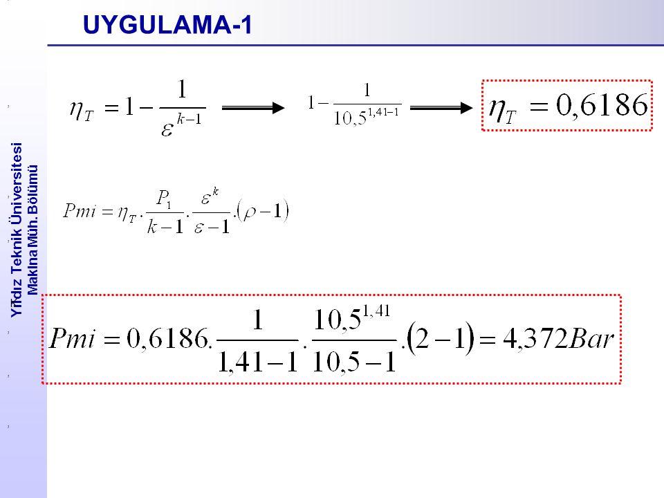Yıldız Teknik Üniversitesi Makina Müh. Bölümü UYGULAMA-1,,,,, K,,