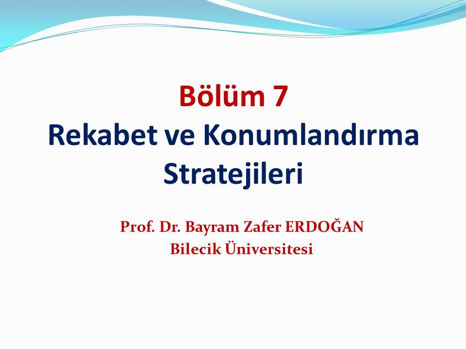 Bölüm 7 Rekabet ve Konumlandırma Stratejileri Prof. Dr. Bayram Zafer ERDOĞAN Bilecik Üniversitesi
