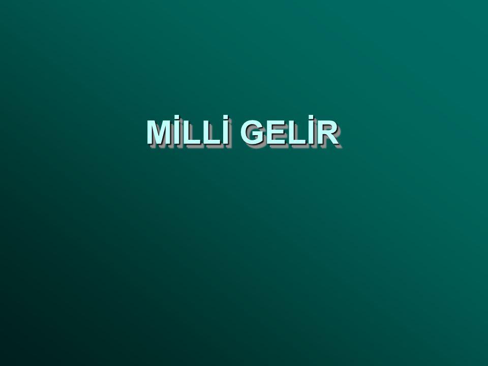 MİLLİ GELİR
