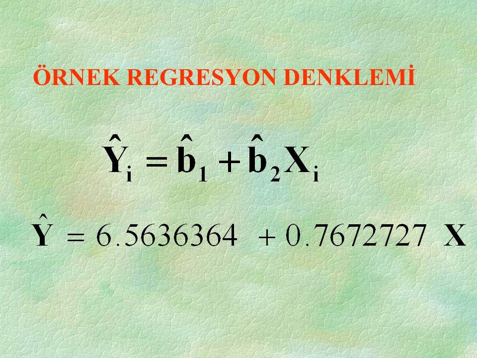 ORTALAMADAN FARKLAR = 0.7672727 = 6.5636364=137-(0.7672).(170)