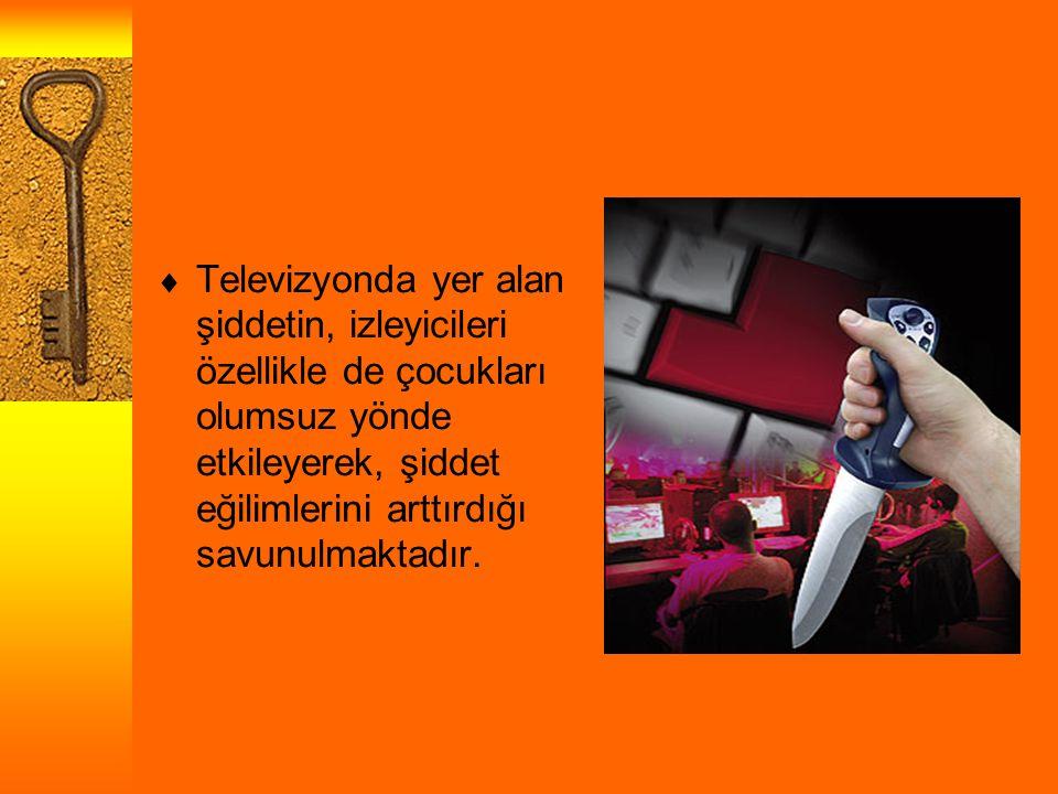  Televizyonda yer alan şiddetin, izleyicileri özellikle de çocukları olumsuz yönde etkileyerek, şiddet eğilimlerini arttırdığı savunulmaktadır.