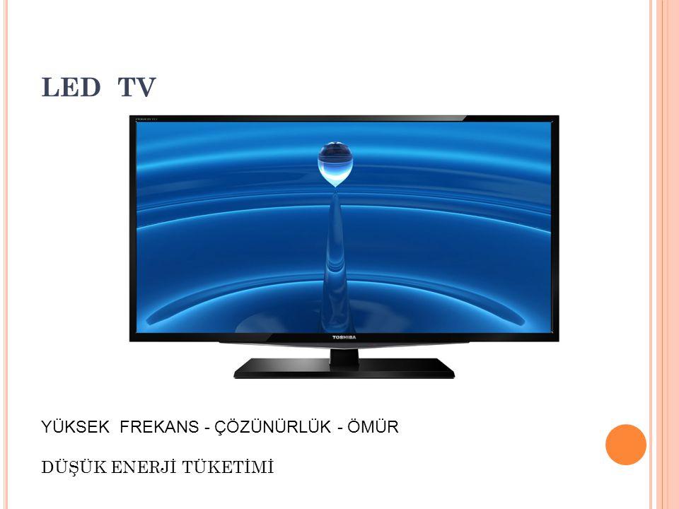 LED TV DÜŞÜK ENERJİ TÜKETİMİ YÜKSEK FREKANS - ÇÖZÜNÜRLÜK - ÖMÜR
