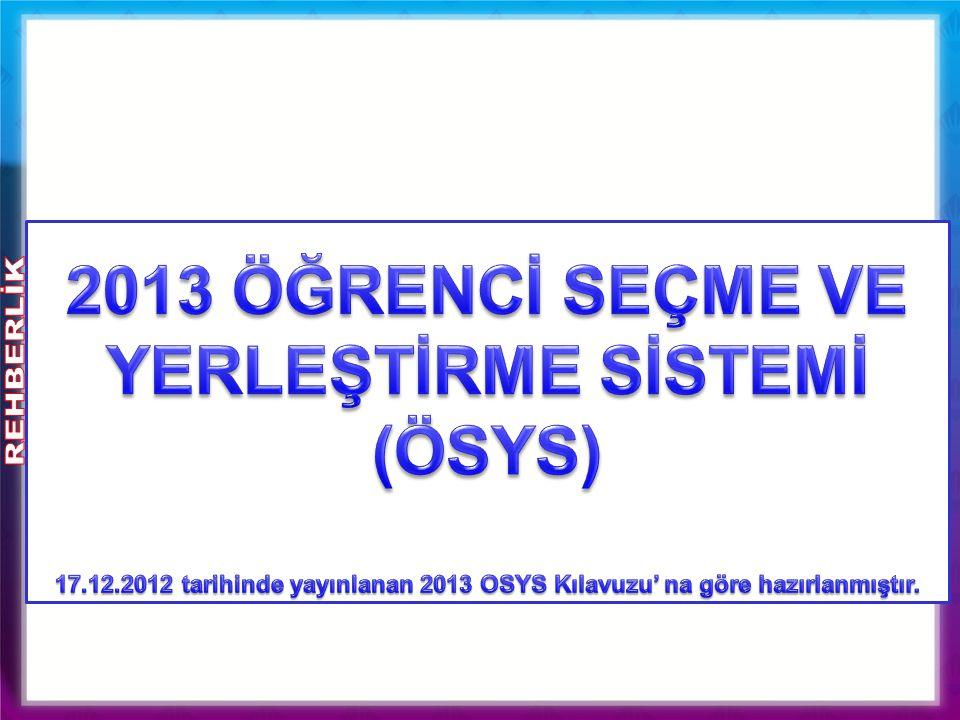 2011-2012 ÖSYS SAYISAL VERİLERİ
