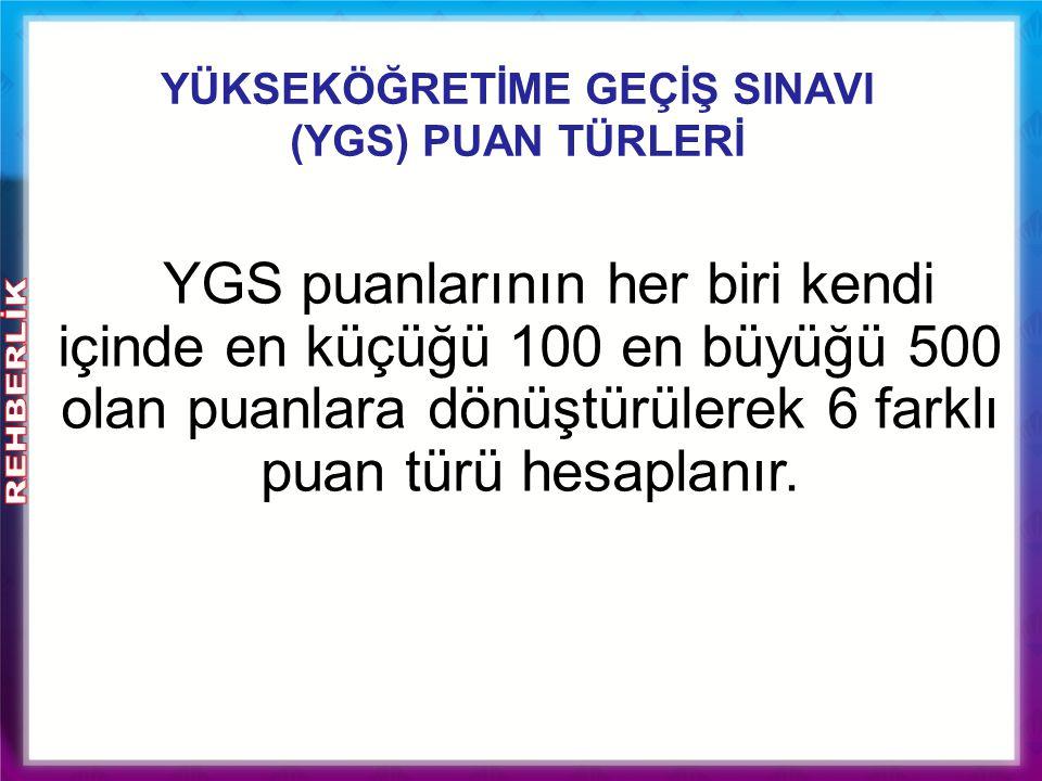 YGS' de Baraj Puanlar 1) Taban puan: 140 puan - Ön lisans programları ile açık öğretim programlarını tercih etme hakkı için gerekli olan taban puandır.