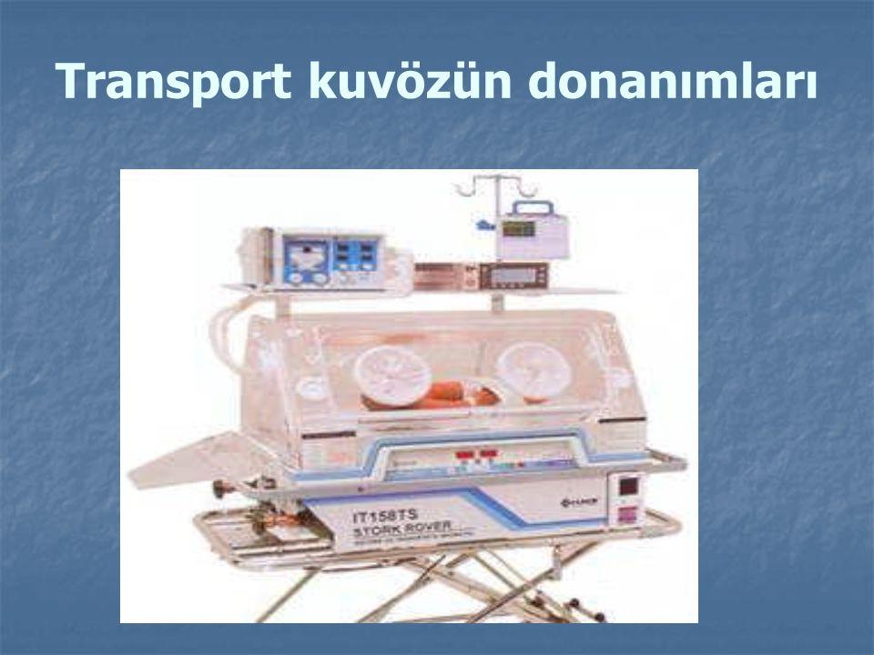 Ambulanslar İçin Taşıma Sistemi Ambulanslarda transport kuvözün bağlama sistemi iki şekilde mümkündür: Ambulanslar için kaldırılabilir bağlanma sistemi vardır.