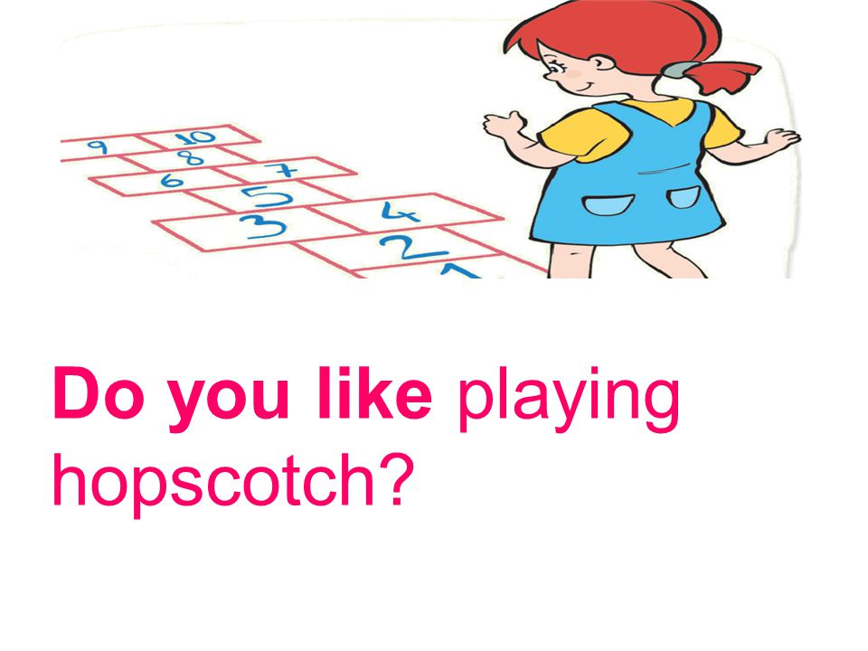 Do you like playing hopscotch?