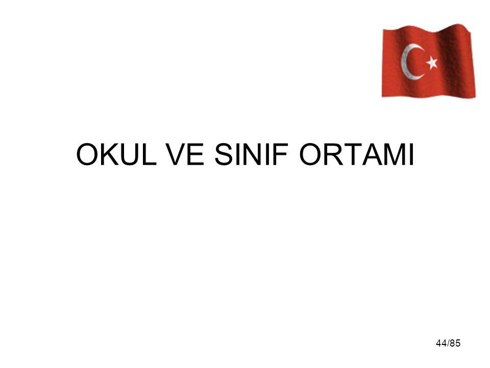 OKUL VE SINIF ORTAMI 44/85