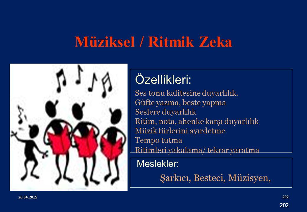 202 Özellikleri: Meslekler: Şarkıcı, Besteci, Müzisyen, Ses tonu kalitesine duyarlılık.