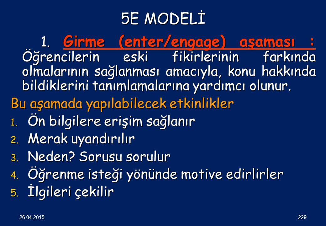 5E MODELİ 1.