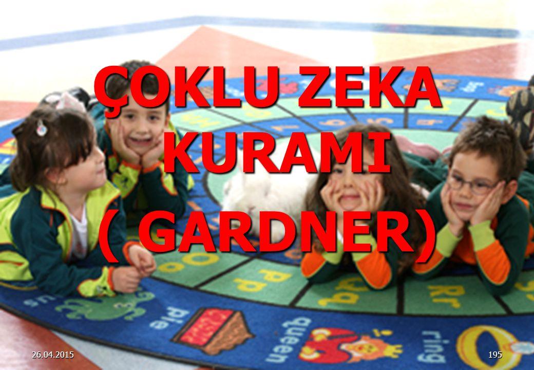 ÇOKLU ZEKA KURAMI ( GARDNER) 19526.04.2015