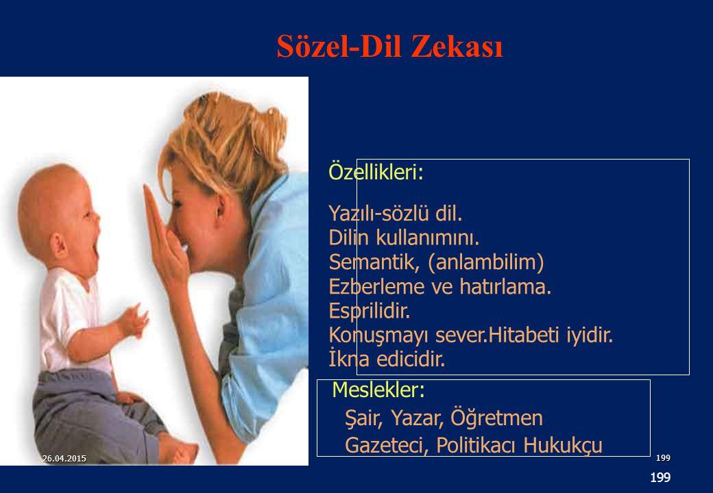 199 Özellikleri: Meslekler: Şair, Yazar, Öğretmen Gazeteci, Politikacı Hukukçu Yazılı-sözlü dil.