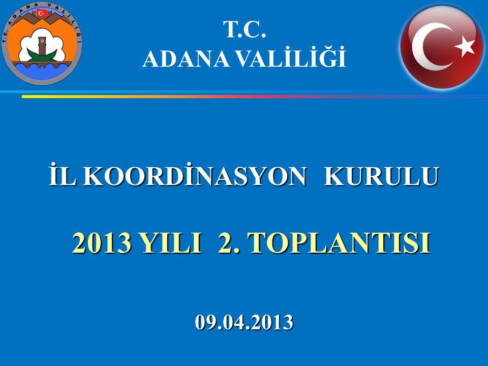 İL KOORDİNASYON KURULU 2013 YILI 2.TOPLANTISI 2013 YILI 2.