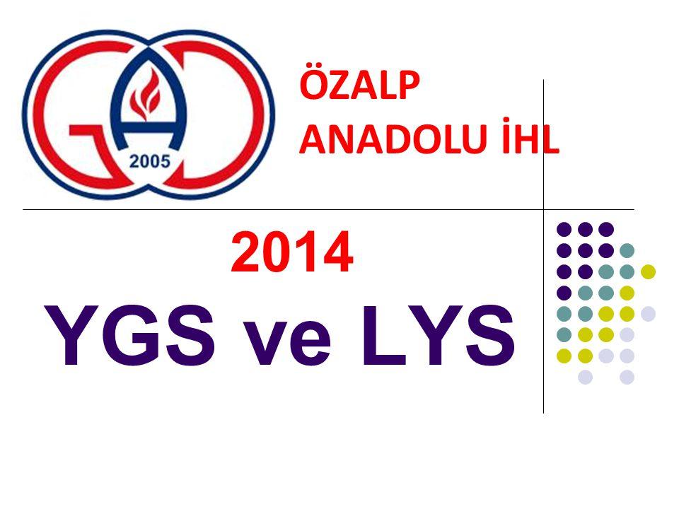 2014 YGS ve LYS ÖZALP ANADOLU İHL