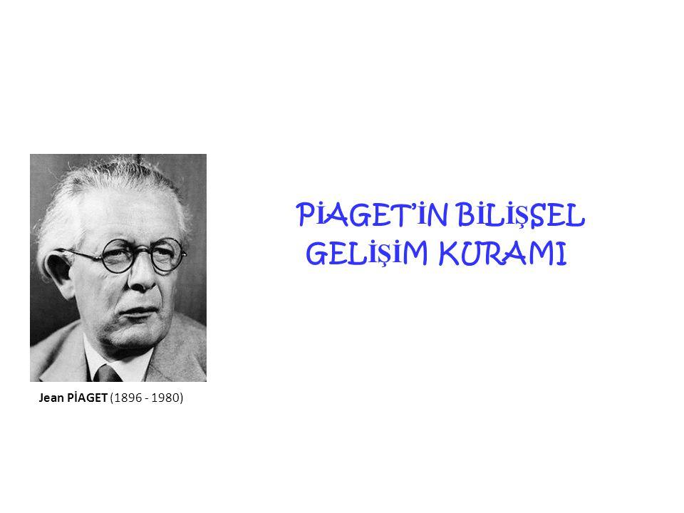 14 P İ AGET' İ N B İ L İŞ SEL GEL İŞİ M KURAMI Jean PİAGET (1896 - 1980)
