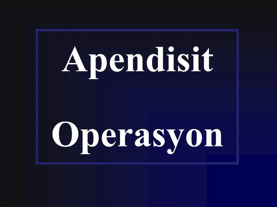 Apendisit Operasyon