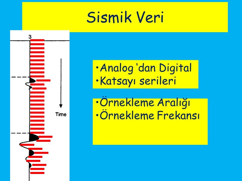 Sismik Veri Örnekleme Aralığı Örnekleme Frekansı Analog 'dan Digital Katsayı serileri