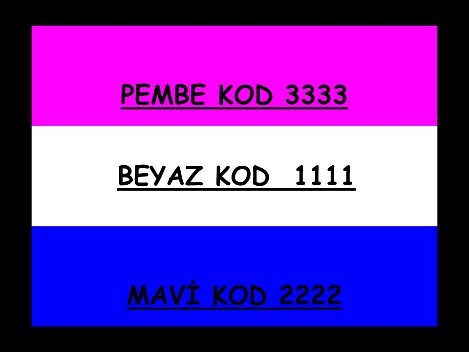 BEYAZ KOD 1111