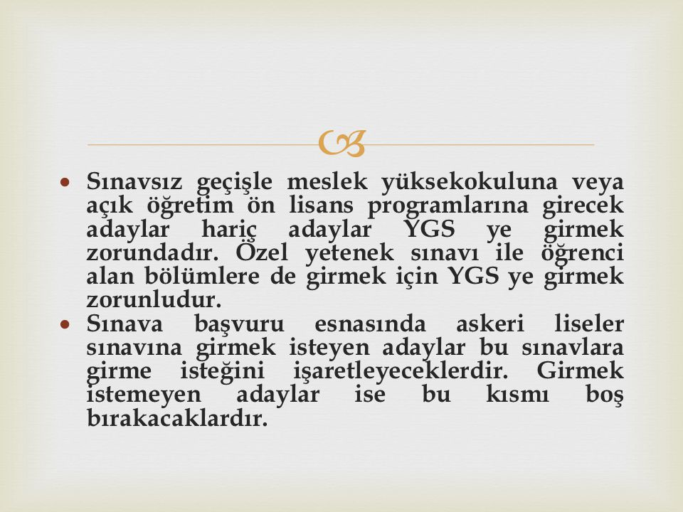 TS - 1 PUANI İLE ÖĞRENCİ ALAN BÖL.ÜMLER 1.Arkeoloji ve Sanat Tarihi 2.