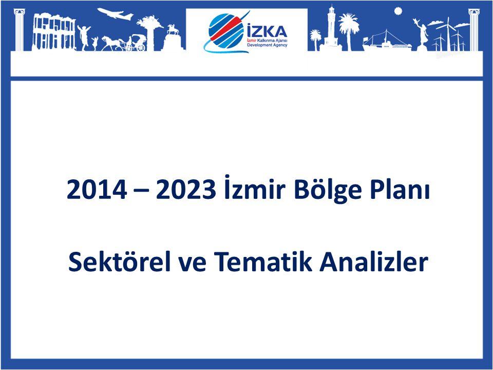 2014 – 2023 İzmir Bölge Planı Sektörel ve Tematik Analizler