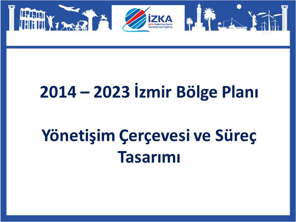 2014-2023 İzmir Bölge Planlama Süreci Basın ve Bilgilendirme Toplantısı İlçe Toplantıları Vatandaş Toplantısı Kalkınma Çalıştayı Sektörel ve Tematik Çalışmalar