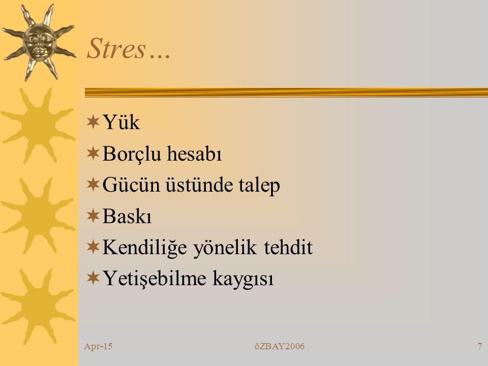 Apr-15öZBAY200617 Stratejiler  Dengeli belenme  Günde en az bir tür gevşeme egzersizi yapmak  Türk hamamı  Fiziksel temas.