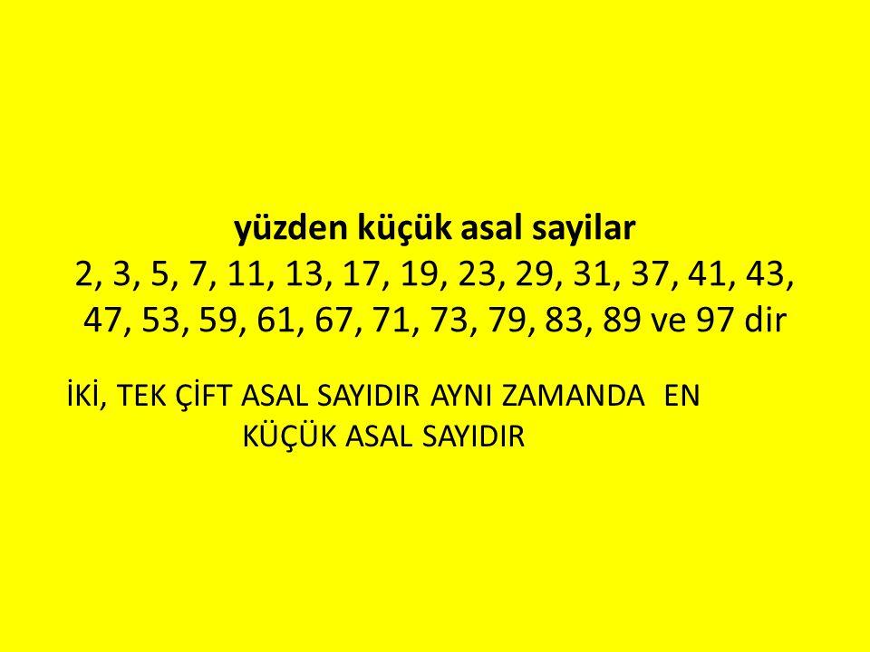 ikiz asallar Aralarındaki fark iki olan asal sayılardır Örneğin (3, 5) (5, 7) (11, 13) (17, 19) (29, 31) (41, 43) (59, 61) (71, 73) (101, 103)