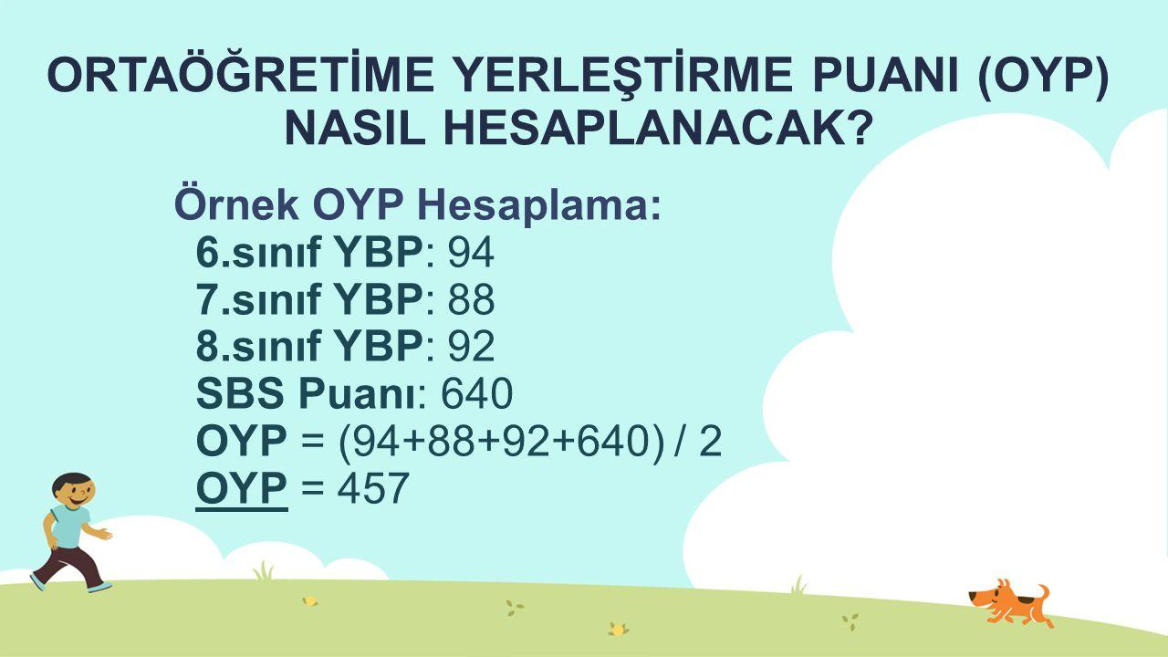 ORTAÖĞRETİME YERLEŞTİRME PUANI (OYP) NASIL HESAPLANACAK.