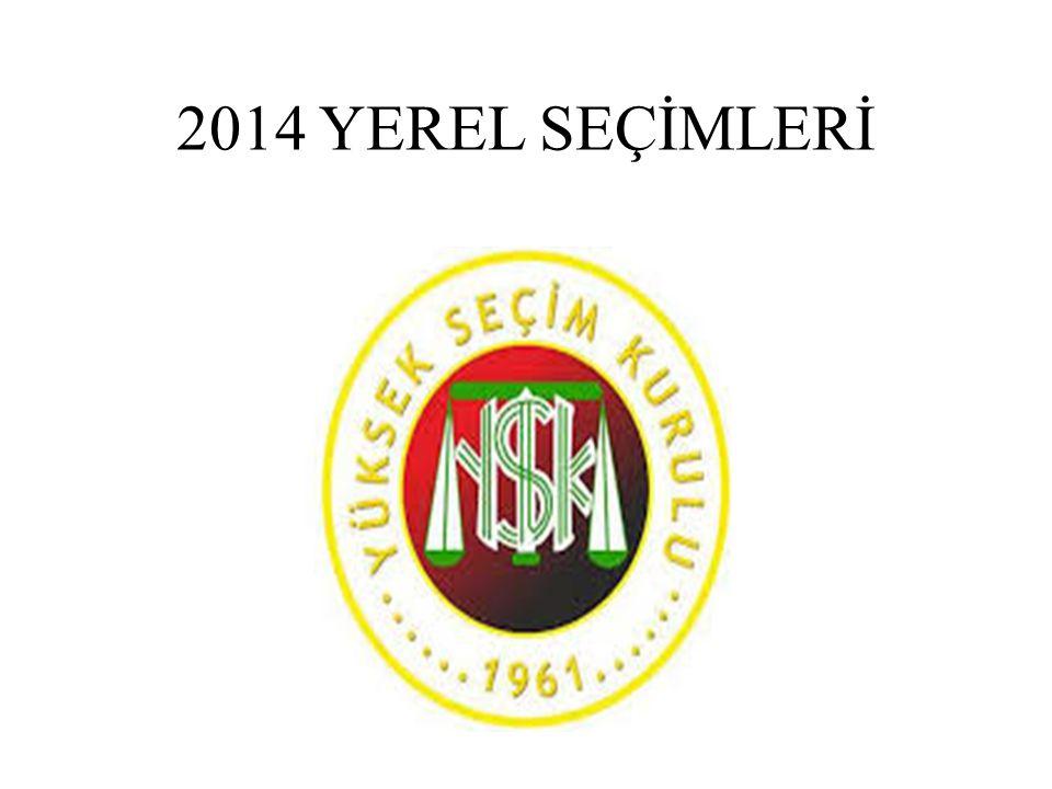 2014 YEREL SEÇİMLERİ