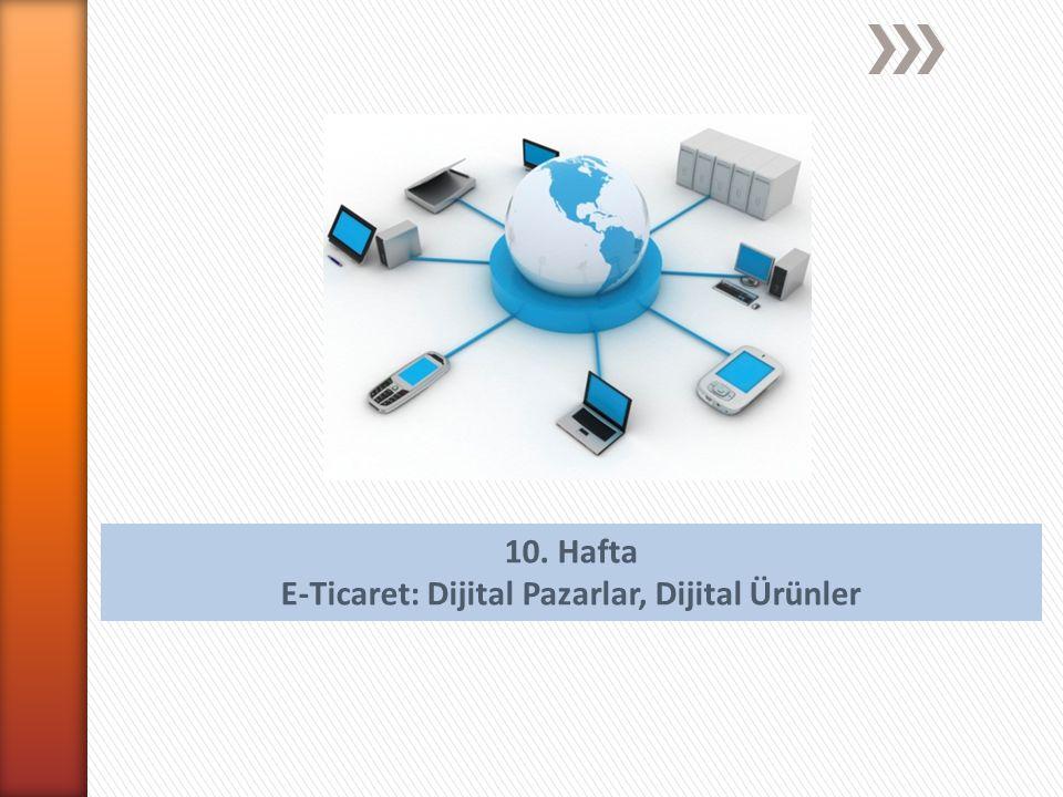 10. Hafta E-Ticaret: Dijital Pazarlar, Dijital Ürünler