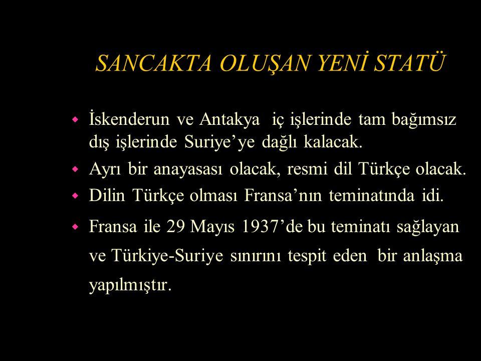 MİLLETLER CEMİYETİ'NİN MESELEYE EL KOYMASI w Fransa Türkiye ile anlaşmaya varamayınca meselenin Milletler Cemiyetine intikalini teklif etmiştir.
