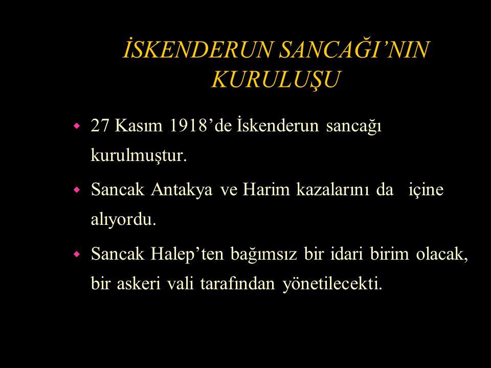 TÜRK-FRASIZ MÜNASEBETLERİ w İki devlet arasındaki önemli meseleler; w Osmanlı borçlarının tasfiyesi (1933'de kesin şekilde halledilmiştir.) w İskenderun Sancağı meselesidir.