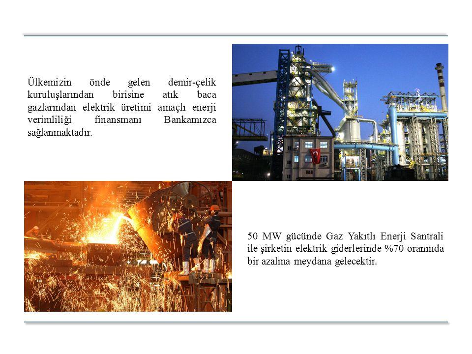 50 MW gücünde Gaz Yakıtlı Enerji Santrali ile şirketin elektrik giderlerinde %70 oranında bir azalma meydana gelecektir.