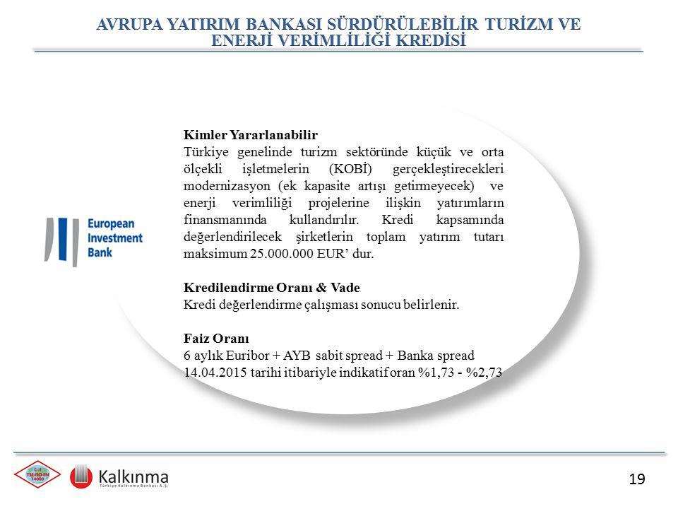 19 Kimler Yararlanabilir Türkiye genelinde turizm sektöründe küçük ve orta ölçekli işletmelerin (KOBİ) gerçekleştirecekleri modernizasyon (ek kapasite
