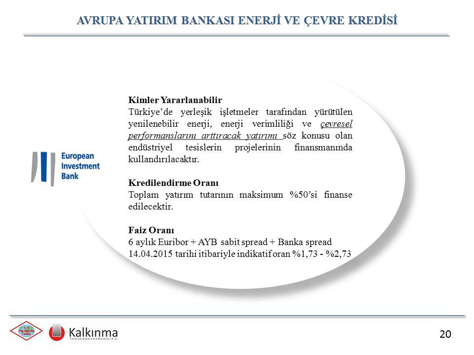 20 Kimler Yararlanabilir Türkiye'de yerleşik işletmeler tarafından yürütülen yenilenebilir enerji, enerji verimliliği ve çevresel performanslarını art